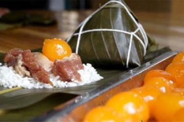 定安黑猪肉粽