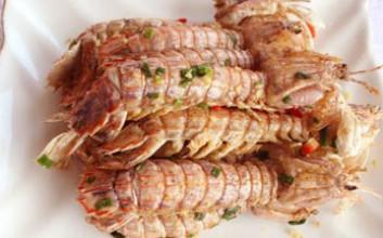 姜盐琵琶虾