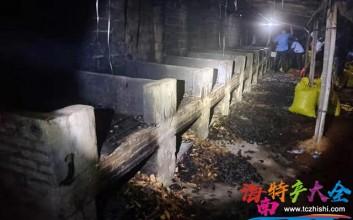 海南万宁拆除多个烟熏槟榔加工点,捣毁槟榔黑果上万斤