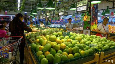 三亚旺豪超市水果售卖区