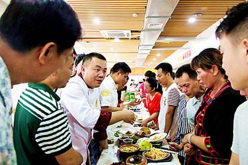 儋州十大名菜和十大小吃评选现场