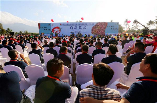 2017海南陵水光坡圣女果采摘季活动开幕现场