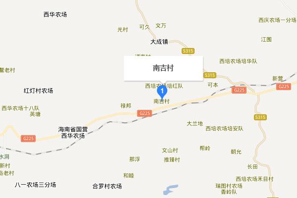 儋州大成镇南吉村地图