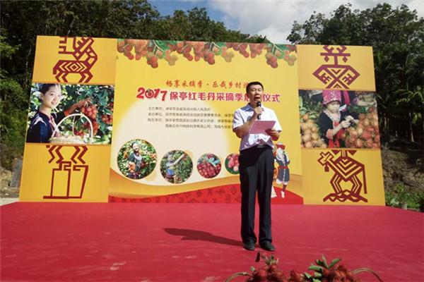 海南省旅游委旅游开发处处长李勇致辞
