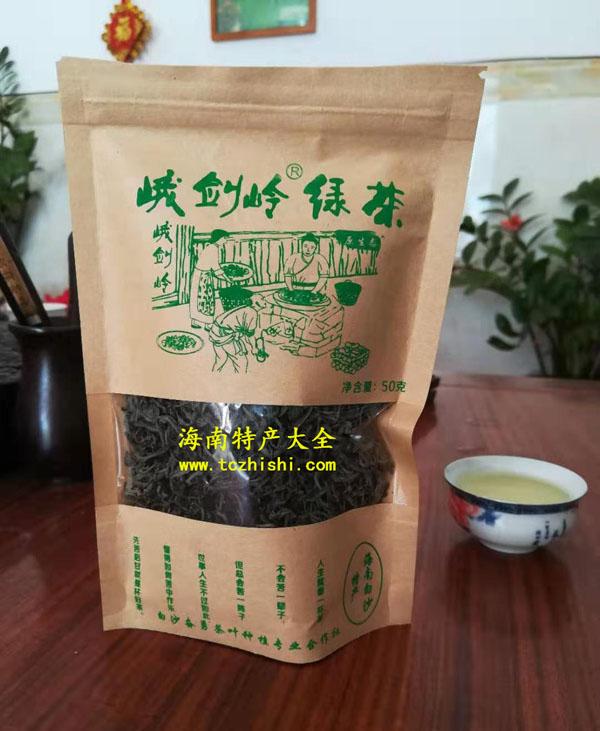 峨剑岭绿茶包装正面