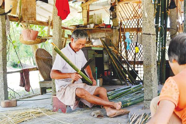 竹器匠人黄东喜